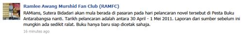 RAMFC FB Sutera Bidadari