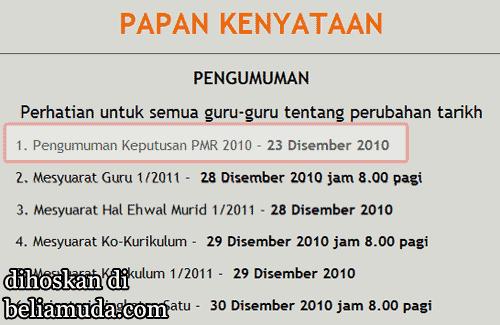 Keputusan PMR 2010