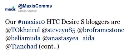 Maxis10 HTC Desire S